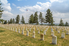 Little Bighorn Battlefield National Memorial: Tombstones Royalty Free Stock Image