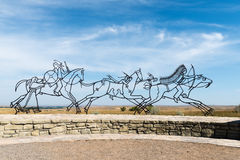 Little Bighorn Montana arkivfoto