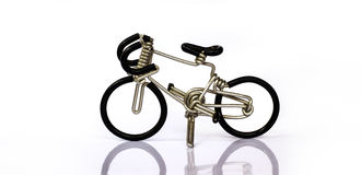 Bike wire bending crafts. Little bike made of bent wire Stock Images