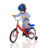 Little biker. Royalty Free Stock Images