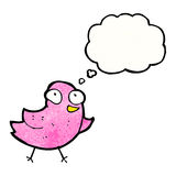 Little bird cartoon Stock Images