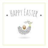 Little bird with egg Royalty Free Stock Photo