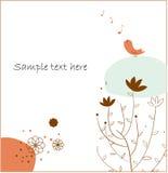 Little bird singing Royalty Free Stock Photo