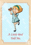 Little bird told me idiom Royalty Free Stock Images