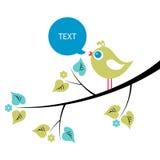 Little bird on the tree. Cute little bird on the tree vector illustration