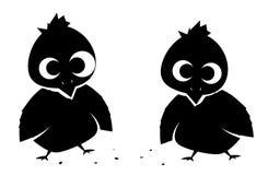 Little Birdies (vector) Stock Photography