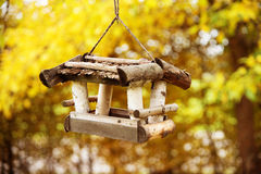 Little birds house in fall mood Stock Images