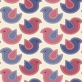 Little birds with light seams - vector seamless pattern. Vector seamless pattern -  little birds with light seams. Cute cartoon childish pattern. Soft Stock Image