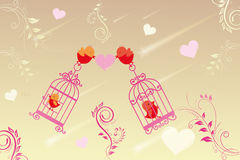 Little birds in love Stock Photos