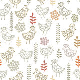 Little birds pattern Royalty Free Stock Image