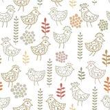 Little birds pattern. Seamless pattern with little birds Royalty Free Stock Image