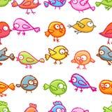 Little birds seamless pattern Stock Images