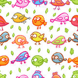 Little birds seamless pattern Royalty Free Stock Photo