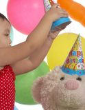 Little birthday girl Stock Photography