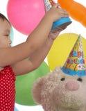 Little birthday girl Stock Photography
