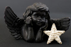 Little black angel Royalty Free Stock Images