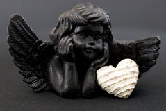 Little black angel Royalty Free Stock Image