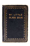 Little Black Book. Studio shot of little black book on white background Stock Photos