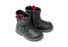 Little black boots Royalty Free Stock Photos