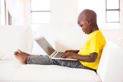 Free Little Black Boy Laptop Royalty Free Stock Images - 63088569