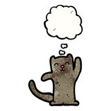 Little black cat waving Stock Image