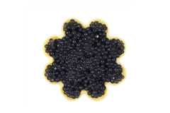 A little black caviar in tartlets Royalty Free Stock Image