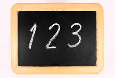 Little black chalkboard Stock Photos