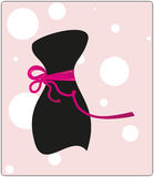 Little black clothes with a ribbon Stock Image
