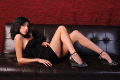 Little black dress. Royalty Free Stock Photography
