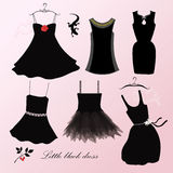 Little black dress. For evening royalty free illustration