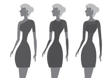 Little Black Dress Fashion Vector Illustration Royalty Free Stock Photos