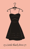 Little black dress. Stock Photos