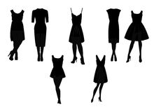 Little black dress in silhouette Stock Photo