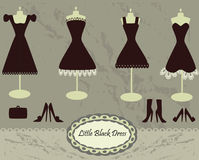 Little black dresses collection Stock Image