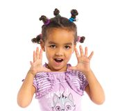 Little black girl Stock Image
