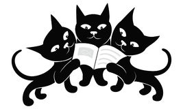Little black kittens Royalty Free Stock Photography