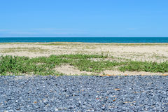 Little Black Rock Road near the sea. Stock Photo
