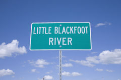Little Blackfoot River Royalty Free Stock Image