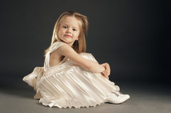 Little blond beautiful girl Stock Photography
