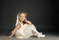Little blond beautiful girl Stock Photos