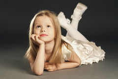 Little blond beautiful girl Royalty Free Stock Images