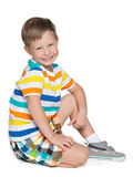 Little blond boy Stock Photos