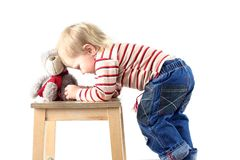 Little blond boy isolated Royalty Free Stock Image