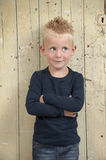 Little blond boy with spikes Stock Image