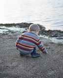Little Boy Playing in the Sand Royalty Free Stock Photos