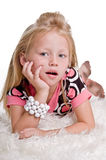 Little Blond with Dirty Feet Royalty Free Stock Images