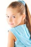 Little blond girl. Portrait of little blond girl royalty free stock photos