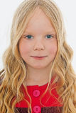 Little blond girl Stock Photos