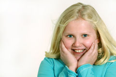 Little blond girl 2 Stock Photos