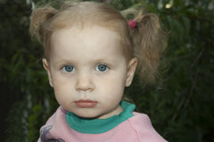 Little blond girl Royalty Free Stock Images